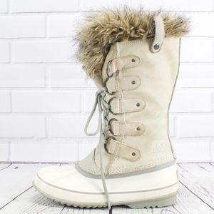 Sorel Joan of the Arctic White/Cream Boots Size 8